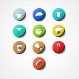 Het pictogram van het voedselweb Stock Foto's