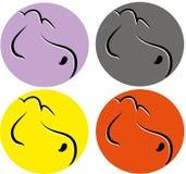 Het pictogram van het hondembleem Royalty-vrije Stock Fotografie