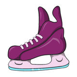 Het pictogram van ijshockeyvleten, beeldverhaalstijl Royalty-vrije Stock Foto's