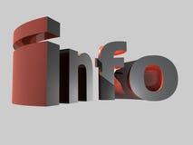 Het pictogram van info Stock Foto