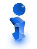 Het pictogram van info Stock Fotografie