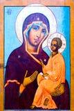 Het pictogram van Jesus en van Mary stock foto