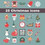 Het pictogram van Kerstmis Stock Afbeeldingen