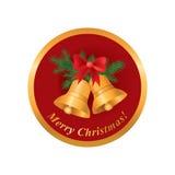 Het pictogram van Kerstmis De vrolijke kaart van de Kerstmisgroet Royalty-vrije Stock Afbeelding