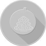 Het pictogram van Kerstmisdecoratie schaduwen van grijs Stock Afbeelding