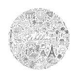 Het pictogram van het krabbelhuwelijk met decoratieve elementen wordt geplaatst dat vector illustratie