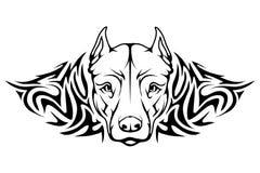 Het pictogram van kuilbull terrier royalty-vrije illustratie