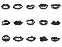 Het pictogram van lippen Stock Fotografie