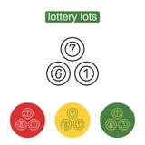 Het pictogram van loterijballen vector illustratie
