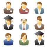 Het Pictogram van mensen: De beroepen plaatsen 1 Stock Foto's