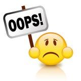 Het pictogram van Oops Stock Fotografie