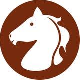 Het pictogram van het paardhoofd Royalty-vrije Stock Foto