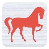Het pictogram van het paardsilhouet Stock Afbeeldingen