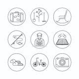 Het pictogram van het pensioneringsoverzicht Stock Foto