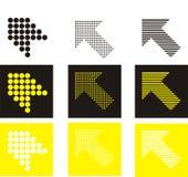 Het pictogram van pijlen Stock Afbeeldingen