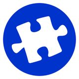 Het pictogram van het puzzelstuk Stock Afbeeldingen