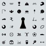 Het pictogram van het schaakpand Voor Web wordt geplaatst dat en het mobiele algemene begrip van sportpictogrammen vector illustratie