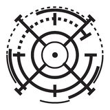 Het pictogram van het sluipschutterdoel, eenvoudige stijl royalty-vrije illustratie