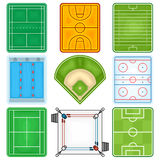 Het Pictogram van sportgebieden Royalty-vrije Stock Afbeeldingen