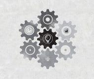 Het pictogram van tekeningstoestellen Stock Afbeeldingen
