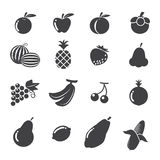 Het pictogram van vruchten Stock Afbeeldingen