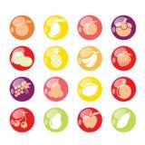Het pictogram van vruchten Stock Foto