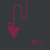 Het pictogram van wijnstokbladeren Vector Stock Fotografie
