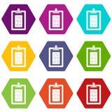 Het pictogram vastgestelde kleur van het spelplan hexahedron Royalty-vrije Stock Foto