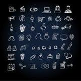 Het pictogram vastgestelde krabbel van het Web royalty-vrije illustratie