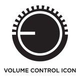 Het pictogram vectordieteken en symbool van de volumecontrole op witte bac wordt geïsoleerd royalty-vrije illustratie