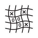 Het pictogram vectordieteken en symbool van tictac toe op witte backgr wordt geïsoleerd royalty-vrije illustratie