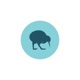 Het pictogram vectorembleem van de kiwivogel Stock Foto's
