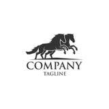 Het pictogram vectorembleem van het paardschild Stock Foto