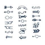 Het pictogram vectorillustratie van het pijlweb Royalty-vrije Stock Afbeelding