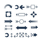 Het pictogram vectorillustratie van het pijlweb Royalty-vrije Stock Afbeeldingen