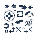 Het pictogram vectorillustratie van het pijlweb Stock Foto