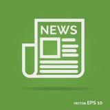 Het pictogram witte kleur van het nieuwsoverzicht Royalty-vrije Stock Afbeeldingen