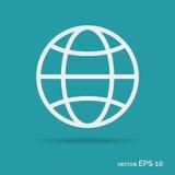 Het pictogram witte kleur van het wereldoverzicht Stock Afbeeldingen