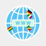 Het pictogram WWW Stock Fotografie
