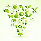 Het pictogramboom van Eco Royalty-vrije Stock Afbeeldingen