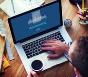 Het Pictogramconcept boekhoudings van de Bedrijfskredieteconomie Stock Afbeeldingen