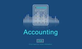 Het Pictogramconcept boekhoudings van de Bedrijfskredieteconomie vector illustratie
