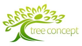 Het pictogramconcept van de persoonsboom stock illustratie