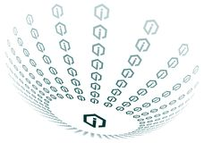 Het pictogramgebied van info Royalty-vrije Stock Foto