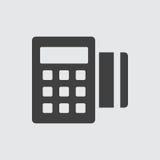 Het pictogramillustratie van de creditcardmachine vector illustratie