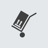 Het pictogramillustratie van de handkar stock illustratie