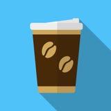 Het pictogramillustratie van de koffiekop stock illustratie