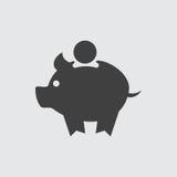 Het pictogramillustratie van de varkensspaarpot royalty-vrije illustratie