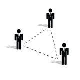 Het pictogramillustratie van verbindingsmensen Royalty-vrije Stock Afbeeldingen