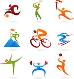 Het pictograminzameling -4 van sporten Stock Fotografie